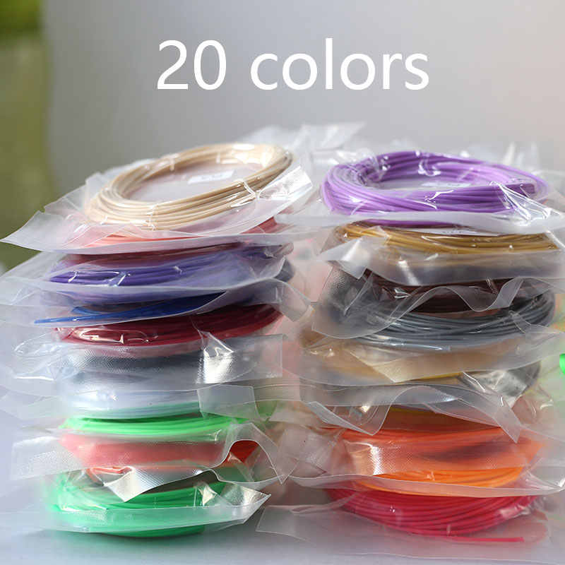 PLA/ABS נימה עבור 3D עט הדפסת פלסטיק 10/20 לחמניות 10M קוטר 1.75mm 200M פלסטיק נימה עבור 3D עט 3D מדפסת עט
