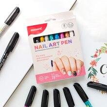 8 видов цветов monami изысканный художественный маркер для ногтей