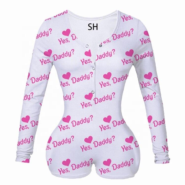 Women Bodysuit New Button One Piece Long Sleeve V Neck Bodycon Short Romper Jumpsuit Overalls Plus Size Bodysuits