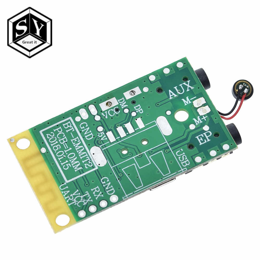 Bluetooth 4.2 áudio transmissor receptor placa 3.7 v ~ 5 v 10 m distância mp3 decodificação módulo sem fio alto-falantes diy 3.5mm para arduino