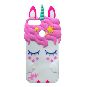 Image 3 - 명예 9 라이트 전화 케이스 화웨이 명예 9 라이트 커버 Fundas 3D 귀여운 핑크 말 유니콘 베어 고양이 만화 소프트 실리콘 케이스 카파