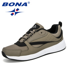 BONA 2019 New Designers Popular Running Shoes Men Lightweight Breathable Sneakers Man Sport  Outdoor Jogging Sneakers Male Comfy