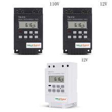 TM616W цифровой электронный таймер 110/12V 30A 17 установка программируемое реле