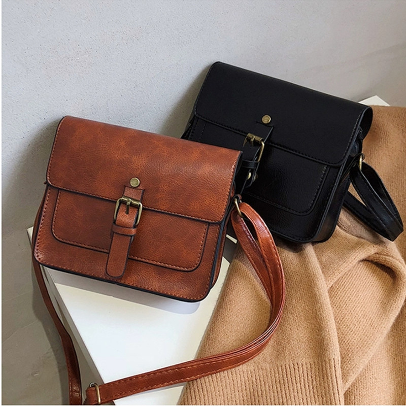 Fashion Vintage Women Flap Casual Leather Boutique Shoulder Bags Lady Crossbody Messenger Bag Elegant Envelop Party Clutch Purse