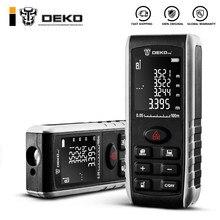 Deko lre521 handheld laser medidor de distância mini laser rangefinder laser faixa de fita diastímetro medida 40m 60m 80m 100m
