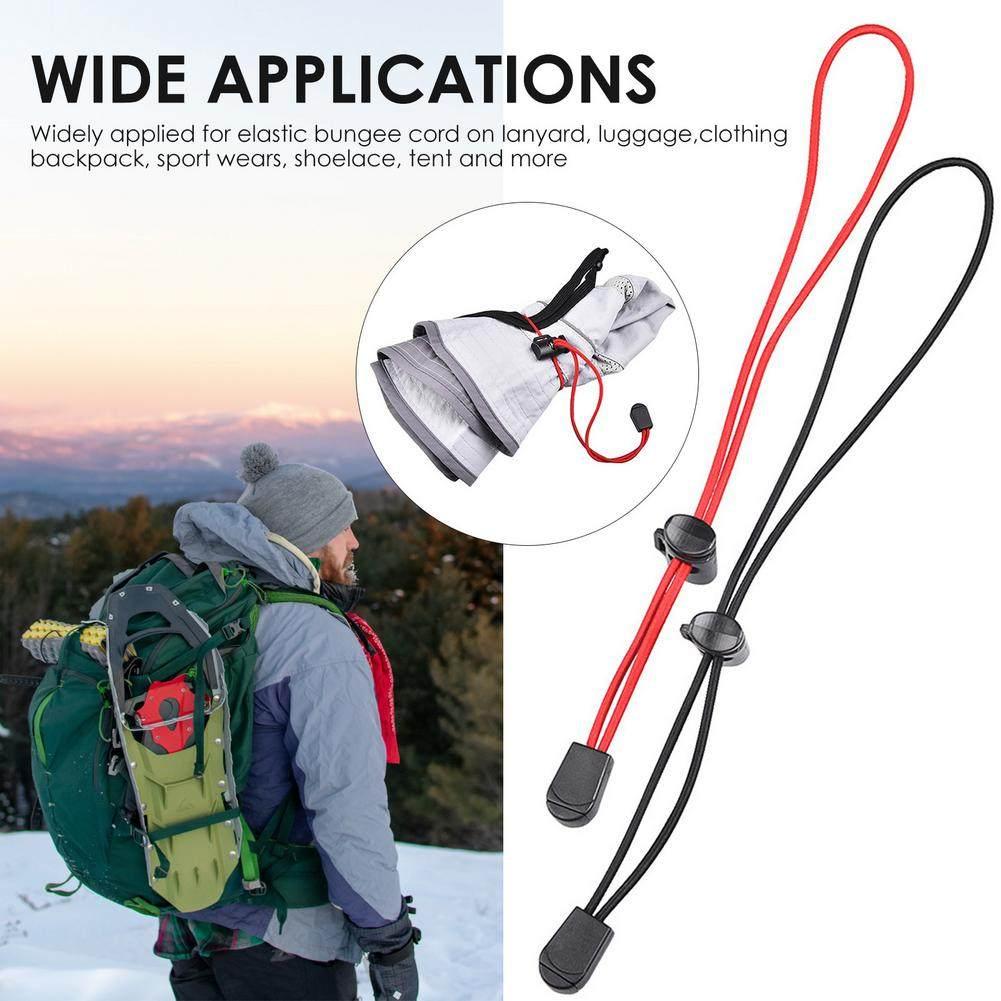 4pcs Backpack Walking Stick Holder Trekking Hiking Pole Fixing Tie Cord Rope