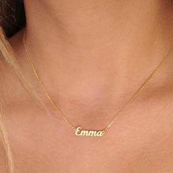 Emma Necklace Custom Gift Name Customized Stainless Steel Pendant Birthday Christmas for Mom
