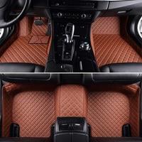 Leather Custom car floor Foot mat For Chevrolet Captiva Sonic Sail Spark Aveo Cruze Blazer epica Camaro Equinox Cavalier Trax