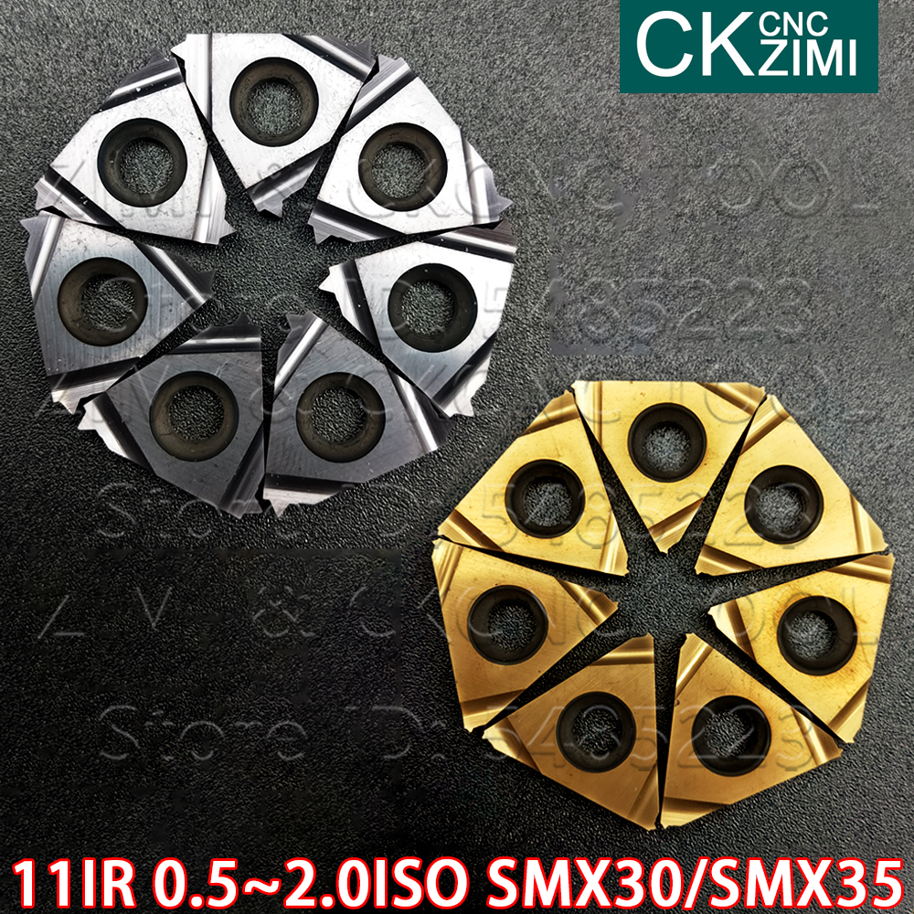 10pcs 16ER 1.25ISO SMX30 Threading Blade CNC Carbide Insert For Stainless Steel