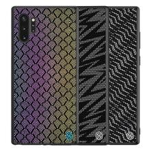 Per Il caso di Samsung Galaxy Note 10 10 + Pro Plus 5G Copertura di NILLKIN Caso di Scintillio poliestere Riflettente Della Copertura Posteriore per Samsung Note10
