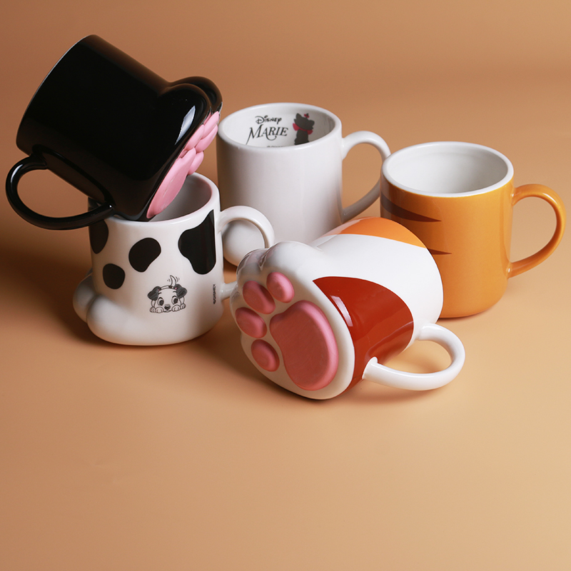 <font><b>Japanese</b></font> style soft cute 3D <font><b>cat</b></font> claw ceramic water <font><b>cup</b></font> cute girl Ceramic <font><b>cat</b></font> claw mug for girlfriends children birthday gift image