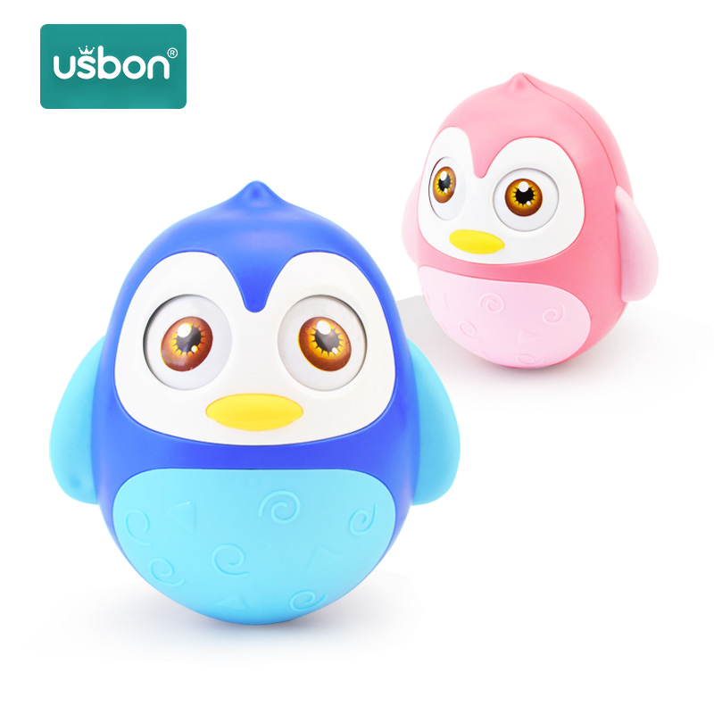 Usbon Baby Toddler Rattles Tumbler Doll Baby Toys Sweet Bell Music Roly-poly Learning Education Toys Gifts Baby Bell