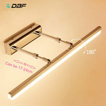 [DBF]Length Adjustable 40cm 50cm 9W 12W LED Mirror Light Stainless Steel AC85-265V Modern Wall Lamp Bathroom Lights Wall Sconce(China)