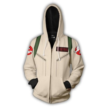 2019 Hooded Ghostbusters Zip Up Hoodie 3D Printed Hoodies Casual zipper hoodie hooded Cosplay