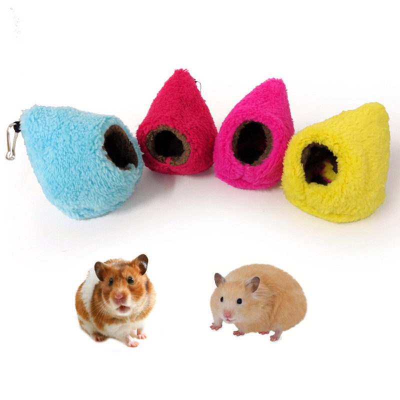 Chinchillas Hamster Warm Bed Embossed Hammock Hanging Bed Sleeping Nest Hanging Cage Accessories For Hamster Squirrel