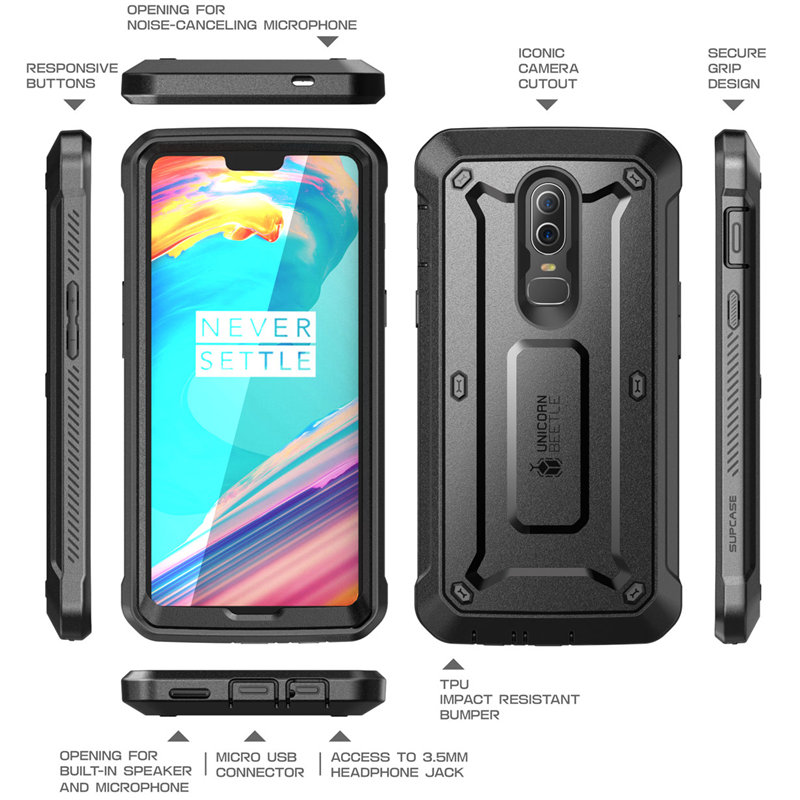 Image 5 - SUPCASE Case For OnePlus 6 UB Pro Full Body Rugged Holster Protective Cover with Built in Screen Protector For One Plus 6 CaseFitted Cases   -
