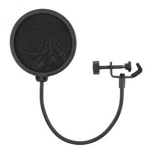 Image 4 - Máscara de viento de Micrófono de estudio bidireccional de 100mm de diámetro, protector de filtro Pop para micrófono, para hablar en estudio, cantar y grabar