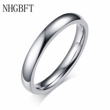 Nhgbft 3 мм простые женские кольца для мужчин глянцевое кольцо