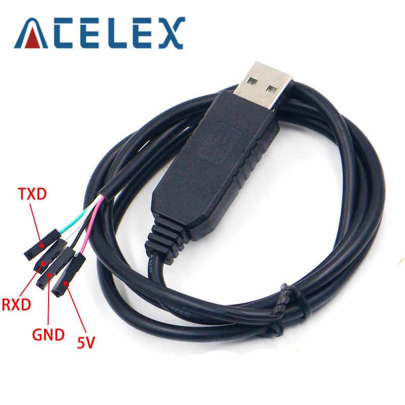 Smart Electronics PL2303 PL2303HX USB do UART TTL moduł kablowy 4 p 4 pin RS232 konwerter szeregowy linii wsparcie Linux Mac Win7