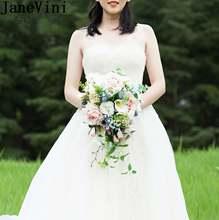 Брошь невесты ручной работы с розовыми и зелеными листьями 2020