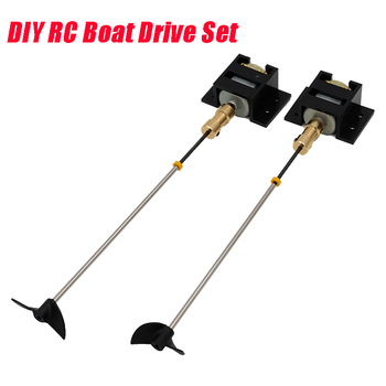 2 Sets RC Boat motor Drive Set 130 Motor+Motor Seat+Copper Coupling+15cm Shaft+Propellers Kit For DIY RC Model Boat Ship solar powered boat no 3 kit diy ship model puzzle handmade material spare parts rc accessories for science education f19139