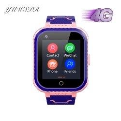 Детские 4G часы дистанционного мониторинга gps LBS позиционирование видео чат Водонепроницаемая камера SIM карта SMS трекер для девочек и мальчик...
