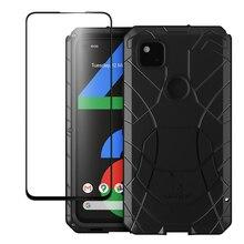 Cho Google Pixel 4A 3A 3A XL Lưng Kim Loại Nhôm Kính Cường Lực Cho Google Pixel 4 4a 4XL Vỏ Bảo Vệ