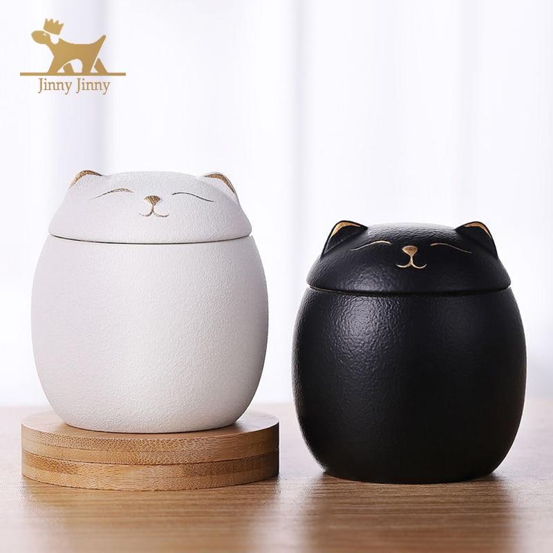 Urn for Pet Ashes- Cat Shape Memorial Cremation Urns-Handcrafted Black Decorative Urns for Funeral,Cat urn,Dog urn