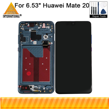 "Original Axisinternational LCD Frame 6.53"" For Huawei Mate 20 LCD Screen Display Frame+Touch Panel Digitizer For Mate 20 Display"