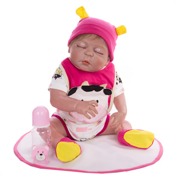 23inch 57cm Full Silicone Reborn Doll Girl Bebe rooted Hair Baby Lifelike Realistic Alive Menina Christmas Gift Bath Toy gift