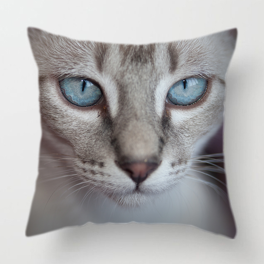 Assorted Cute Cat Face Decorative Cushion Covers