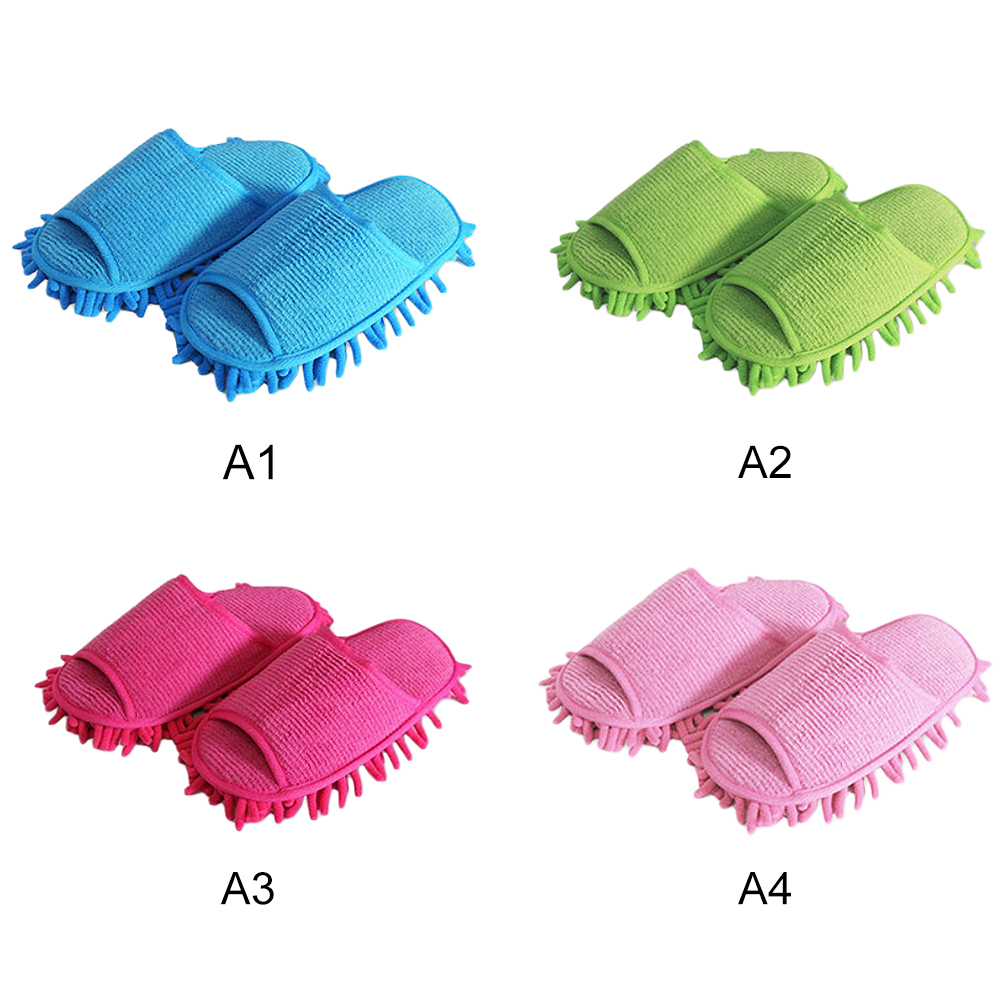 1 Pairs Slippers Style Mops Cleaning Cloth House Floor Ground Cleaning Brush Creative Home Room Cleaning Mop Tools Supplies