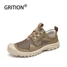 GRITION мужские походные ботинки, уличная зимняя обувь для скалолазания, Новое поступление, профессиональные тактические ботинки, модные мужс...