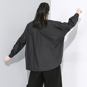 Image 4 - [EAM] Women White Asymmetrical Split Big Size Blouse New Lapel Long Sleeve Loose Fit Shirt Fashion Tide Spring Autumn 2020 1N189