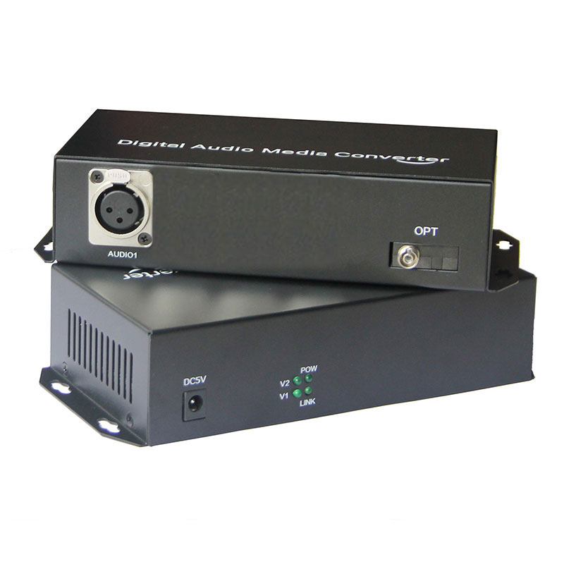 Balanced Audio To Fiber Optic XLR Balanced Audio Over Fiber Audio Digital Fiber Media Converter Transceiver And Receiver
