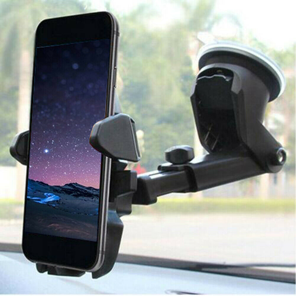 360 Degrees Rotate Universal Car Phone Holder Windscreen Suction Mount Gps Stand Cradle For Iphone11 Universal Air Outlet