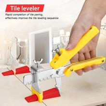 Wall  Tile Leveling System 1.5 mm 300 Clips + 100 Wedges + 1 Piece of Pliers Plastic Paving Tool Tile Tool Tile Spacer