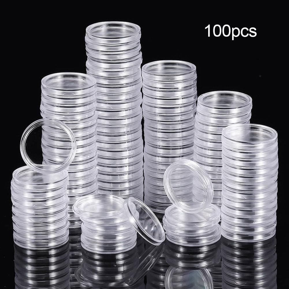 100 шт. 25 мм портативные прочные круглые сувенирные монеты коллекции капсул защитный чехол пыленепроницаемый антикоррозийный