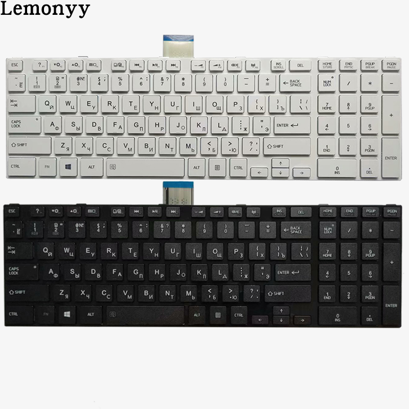 NEW Russian Laptop Keyboard For TOSHIBA SATELLITE L850 L850D P850 L855 L855D L870 L870D RU Black/white Keyboard
