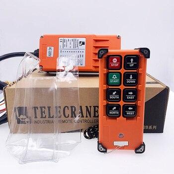 цена на F21-E2B TELECRANE 6 channel wireless rf industrial crane radio remote control switch for cranes