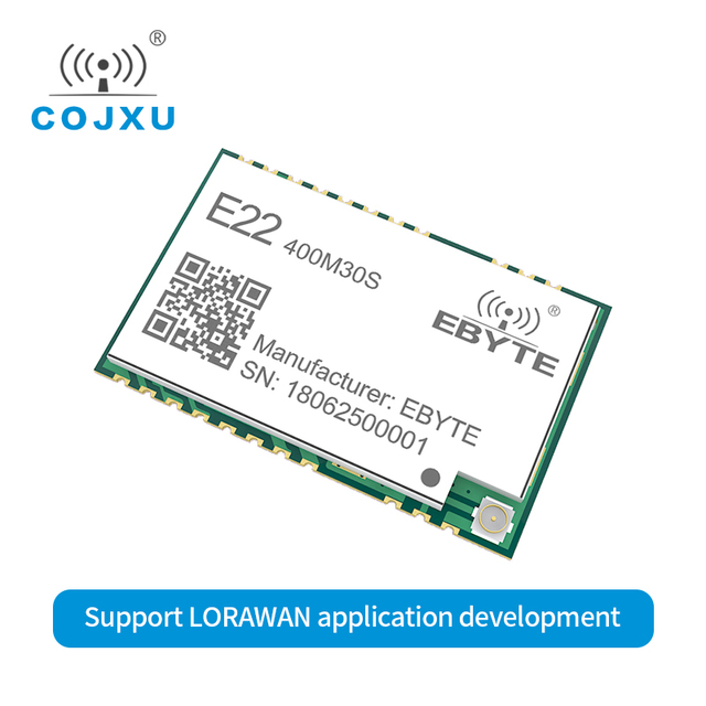 LORAWAN SX1268 LoRa TCXO 433MHz ebyte E22 400M30S Wireless Transceiver  SMD 30dBm IPEX Stamp Hole  Long Range rf Module 433 Mhz