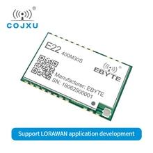 LORAWAN SX1268 Lora TCXO 433MHz ebyte E22 400M30S ไร้สาย SMD 30dBm IPEX หลุมแสตมป์ยาว RF โมดูล 433MHz