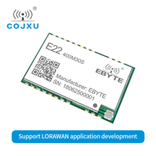 Lorawan sx1268 lora tcxo 433 mhz ebyte E22 400M30S 무선 송수신기 smd 30dbm ipex 우표 구멍 장거리 rf 모듈 433 mhz