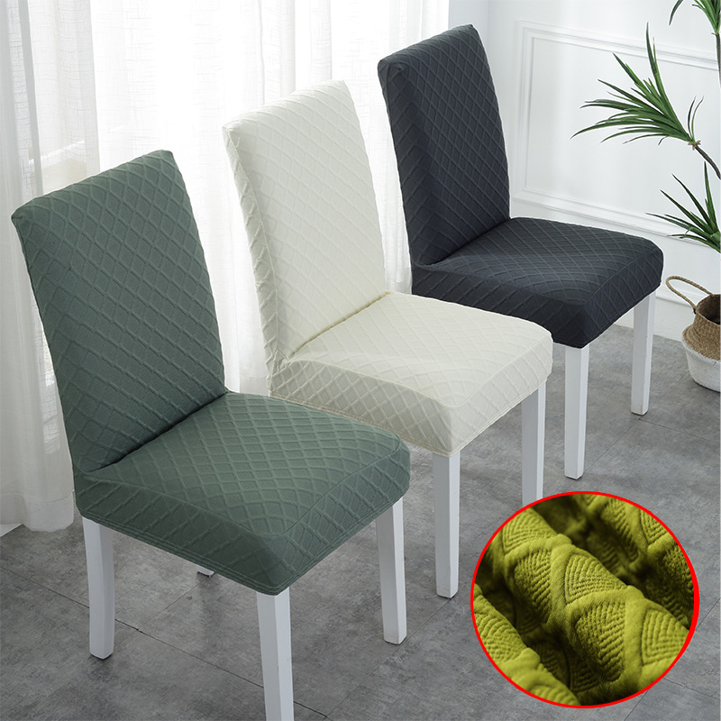 Cheap Jacquard Dining Chair Covers Spandex Elastic Dining Room Chair Covers Kitchen Case For Chairs Stretch Common Size|Chair Cover| - AliExpress