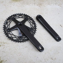 track bike Crankset 49T BCD144 Aluminum Single Speed fixie bike road bike Sprocket Fixed Gear bike Chainwheel cranks