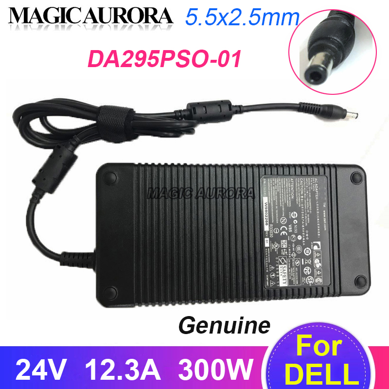 Оригинальный DA295PSO-01 адаптер переменного тока питания для ноутбука Зарядное устройство 24V 12.3A 300W для Dell PA-2 серии СВЕТОДИОДНЫЙ монитор Питани...