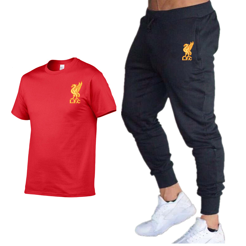 Summer Hot Sale Men's Sets T-Shirts+pants Two Pieces Sets Casual Tracksuit Male 2019 Casual Tshirt Print Trousers Men
