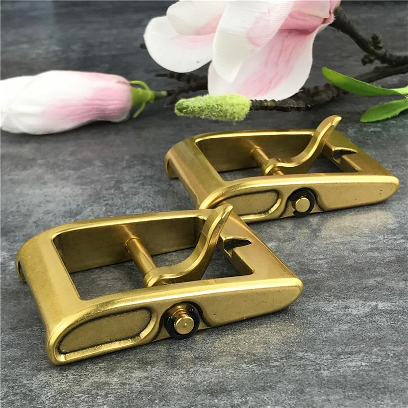 2PCS Heavy Solid Brass Belt Buckles For Men Belt DIY Accessories Leather Craft Men Buckle Belt Waist Buckle For Belt BK0022