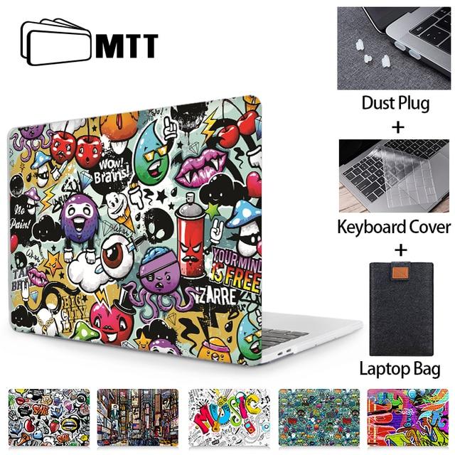 MTT Laptop Case For Macbook Air Pro 11 12 13 15 16 Touch Bar for macbook air 13 funda Cartoon Laptop Sleeve a2179 a1932 a1466