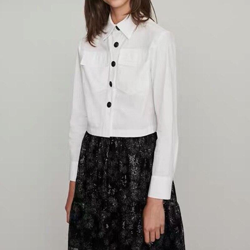 Travail porter 2019 femmes blanc chemise coton Blusas Femininas hauts automne élégant dames formelle bureau Blouse